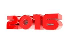 Diseño de la Feliz Año Nuevo 2016 en el fondo blanco Fotos de archivo