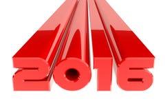 Diseño de la Feliz Año Nuevo 2016 en el fondo blanco Fotografía de archivo libre de regalías