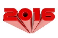 Diseño de la Feliz Año Nuevo 2016 en el fondo blanco Imagen de archivo libre de regalías