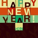 Diseño de la Feliz Año Nuevo Ilustración del vector Imagen de archivo