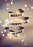 Diseño de la Feliz Navidad Fondo borroso del vector EPS 10 Imagen de archivo libre de regalías