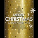 Diseño de la Feliz Navidad y de la Feliz Año Nuevo Fotografía de archivo