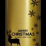 Diseño de la Feliz Navidad y de la Feliz Año Nuevo Fotos de archivo