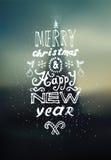 Diseño de la Feliz Navidad y de la Feliz Año Nuevo Fondo borroso del vector EPS 10 Imagenes de archivo