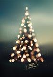 Diseño de la Feliz Navidad y de la Feliz Año Nuevo Fondo borroso del vector EPS 10 Fotografía de archivo