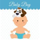 Diseño de la fiesta de bienvenida al bebé Fotos de archivo