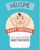Diseño de la fiesta de bienvenida al bebé Imágenes de archivo libres de regalías