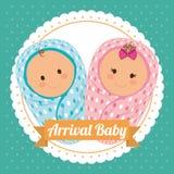 Diseño de la fiesta de bienvenida al bebé Fotos de archivo libres de regalías
