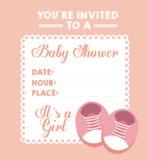 Diseño de la fiesta de bienvenida al bebé stock de ilustración