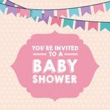 Diseño de la fiesta de bienvenida al bebé ilustración del vector