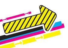 Diseño de la flecha Imagenes de archivo