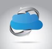 Diseño de la flecha de las nubes stock de ilustración