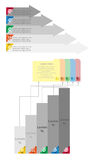 Diseño de la flecha para el gráfico de la información del concepto del negocio Imagen de archivo libre de regalías