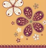 Diseño de la flor de la vendimia Foto de archivo libre de regalías