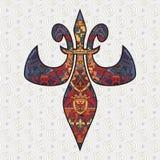 Diseño de la flor de lis Fotos de archivo