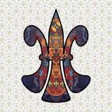 Diseño de la flor de lis Foto de archivo libre de regalías