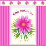 Diseño de la flor del día de madres Foto de archivo