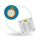 Diseño de la forma de vida, aptitud y concepto sanos del levantamiento de pesas Imagen de archivo
