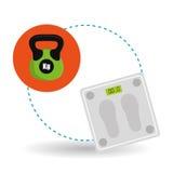 Diseño de la forma de vida, aptitud y concepto sanos del levantamiento de pesas Fotografía de archivo