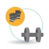 Diseño de la forma de vida, aptitud y concepto sanos del levantamiento de pesas Fotografía de archivo libre de regalías