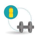 Diseño de la forma de vida, aptitud y concepto sanos del levantamiento de pesas Foto de archivo