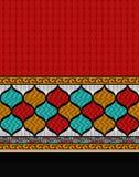 Diseño de la frontera de la bufanda de la impresión de la materia textil stock de ilustración