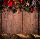 Diseño de la frontera de la Navidad Foto de archivo