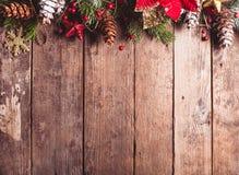 Diseño de la frontera de la Navidad Fotografía de archivo libre de regalías