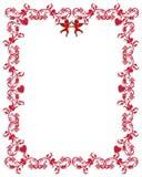 Diseño de la frontera de los corazones de la tarjeta del día de San Valentín Fotos de archivo