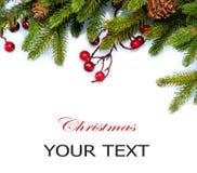 Diseño de la frontera del árbol de navidad Imagenes de archivo