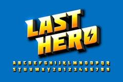 Diseño de la fuente del estilo de los tebeos, alfabeto inspirado super héroe libre illustration