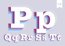 Diseño de la fuente de vector Tipografía creativa del cartel Tipo abstracto stock de ilustración