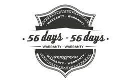 diseño de la garantía de 56 días, el mejor sello negro ilustración del vector