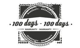 diseño de la garantía de 100 días, el mejor sello negro stock de ilustración