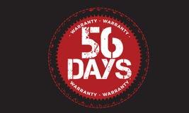 diseño de la garantía de 56 días, el mejor sello negro libre illustration