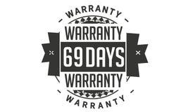 diseño de la garantía de 69 días, el mejor sello negro ilustración del vector