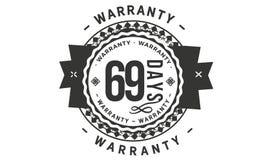 diseño de la garantía de 69 días, el mejor sello negro libre illustration