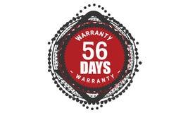 diseño de la garantía de 56 días, el mejor sello negro stock de ilustración