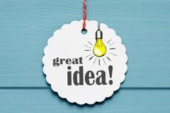 Diseño de la gran idea fotos de archivo libres de regalías