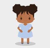 Diseño de la historieta del niño de la muchacha Fotos de archivo libres de regalías