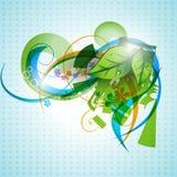 Diseño de la hoja del vector Foto de archivo libre de regalías