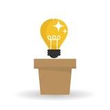Diseño de la idea Icono del bulbo Concepto de la solución Imágenes de archivo libres de regalías