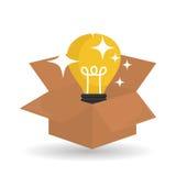 Diseño de la idea Icono del bulbo Concepto de la solución Foto de archivo libre de regalías