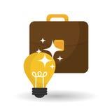 Diseño de la idea Icono del bulbo Concepto de la solución Fotografía de archivo