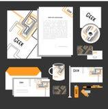 Diseño de la identidad corporativa Plantillas clásicas de los efectos de escritorio fijadas Imagen de archivo libre de regalías