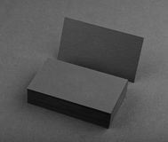 Diseño de la identidad, plantillas corporativas, estilo de la compañía, busin negro Imagenes de archivo