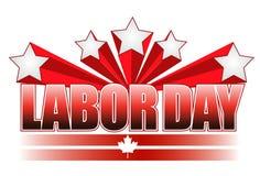 Diseño de la ilustración de Canadá del Día del Trabajo Fotos de archivo