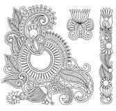Diseño de la ilustración del doodle de las flores ilustración del vector