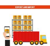 Diseño de la importación y de la exportación Fotografía de archivo