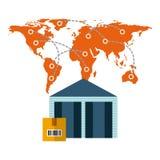 Diseño de la importación y de la exportación Imágenes de archivo libres de regalías